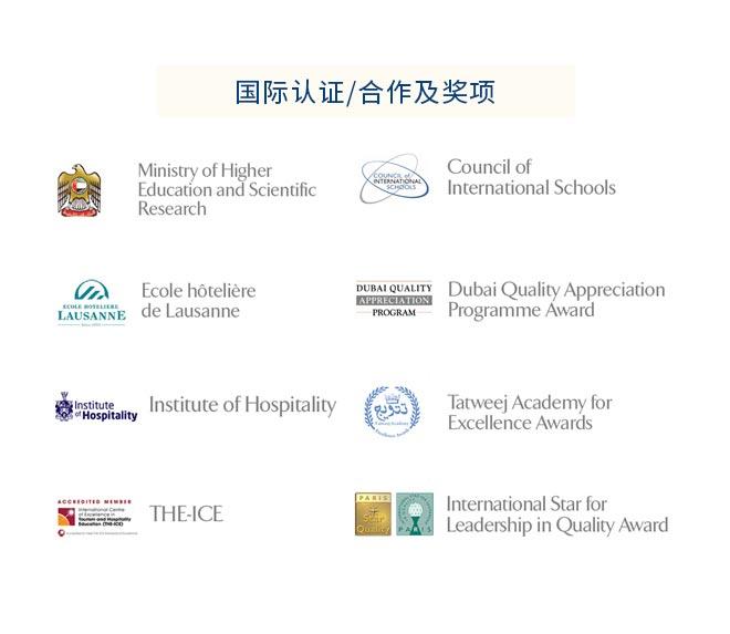 国际认证, 合作及奖项: